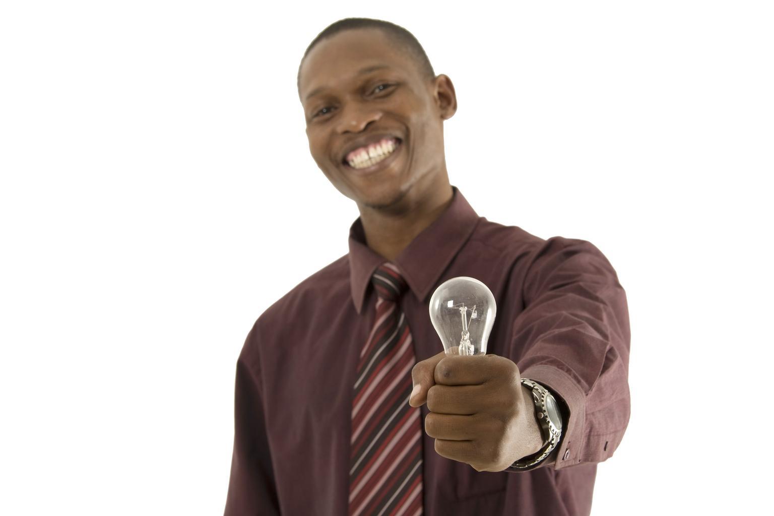 šťastný, žiarovka