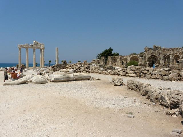 Ruiny starobylého mesta Side